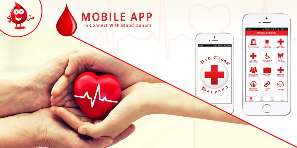 Mobile app to connect with Blood Donors